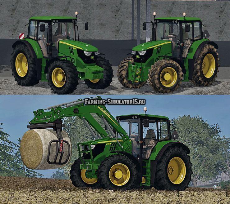 Мод трактор John Deere 6115 M v 1.0 Edit Farming Simulator 15