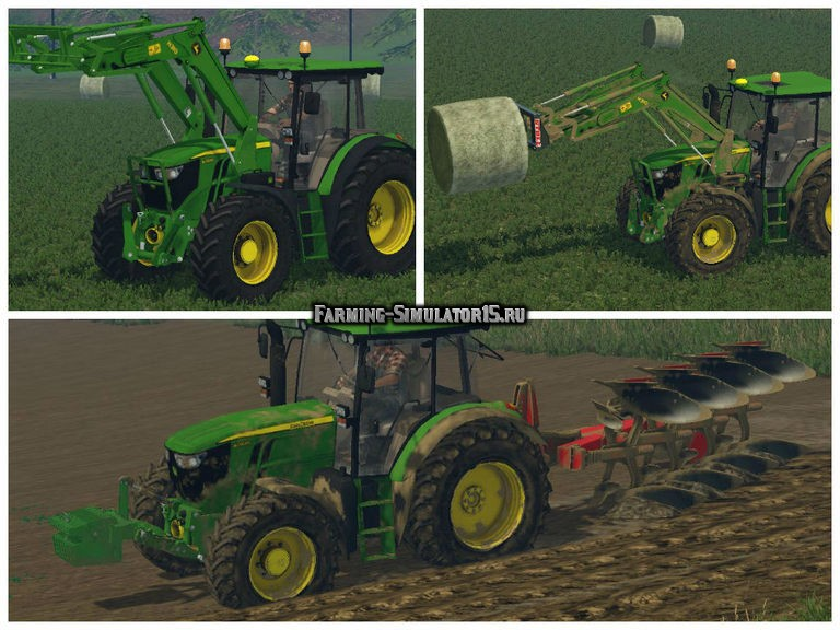 Мод трактор John Deere 6090RC Farming Simulator 15