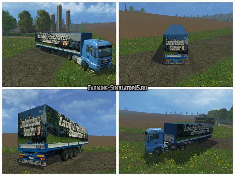 Мод прицеп Kögel With Tarpaulin V 1.0 Farming Simulator 2015