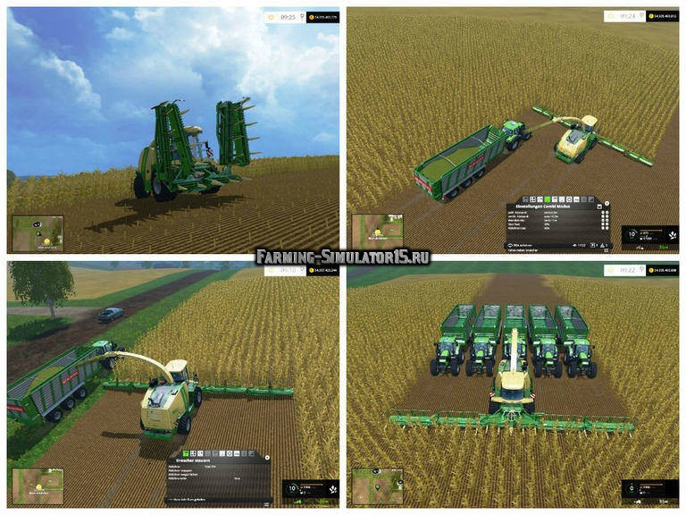 Мод жатка Krone Easy Collect 3053 v 1.0 Farming Simulator 2015
