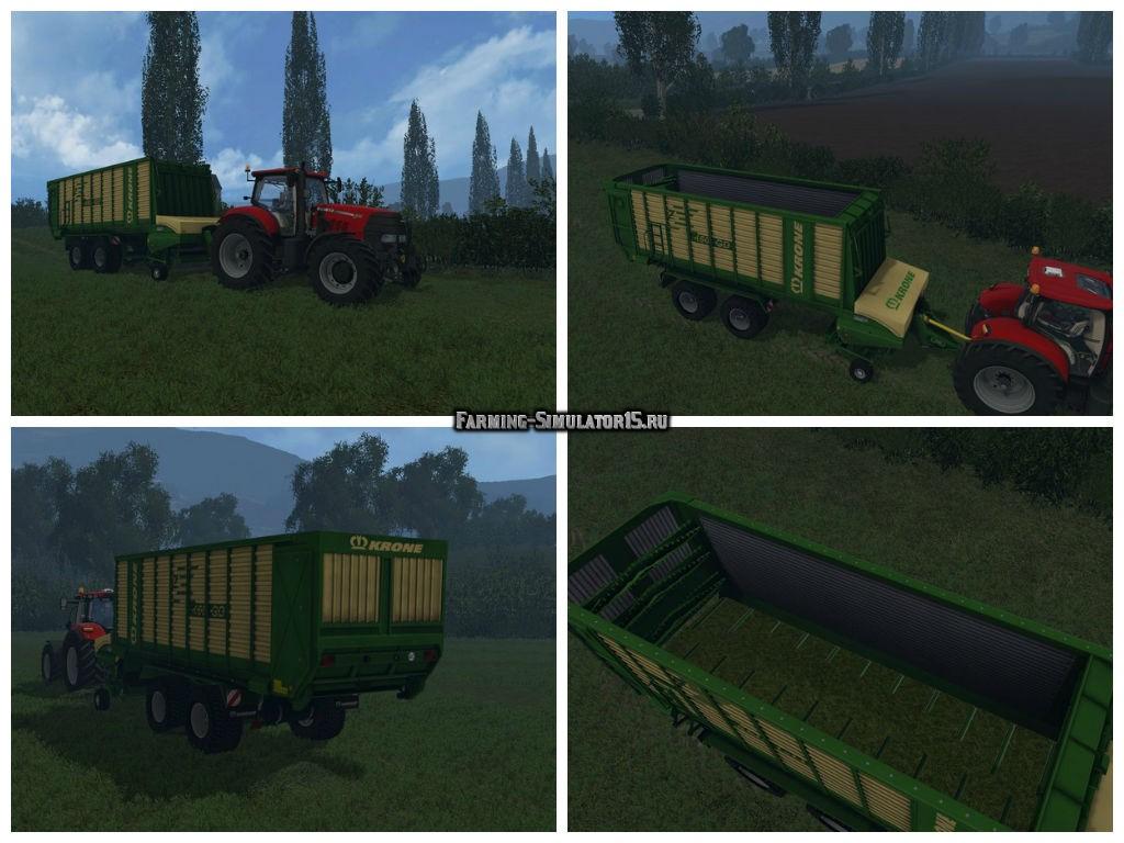 Мод прицеп Krone ZX 450GD v 1.0 Farming Simulator 2015