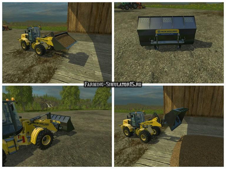 Мод ковш New Holland Wheelloader Shovel v 1.0 Multifruit Farming Simulator 2015
