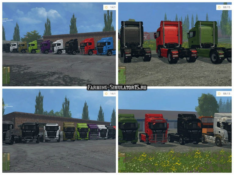 Мод грузовик Scania R730 Streamline v 1.0 Farming Simulator 2015