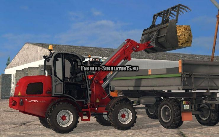 Мод погрузчик Weidemann 4270 CX100T v 1.0 Farming Simulator 2015