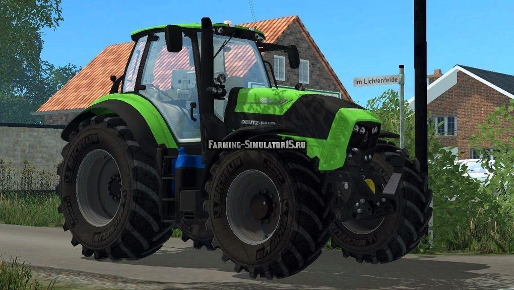 Мод трактора DEUTZ-FAHR 7250 TTV FULL TRACTOR V4 Farming Simulator 15