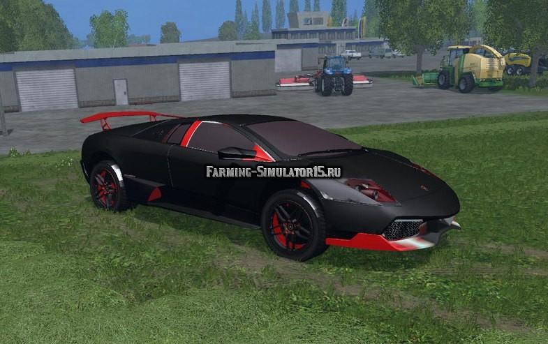 Мод автомобиль LAMBORGHINI MURCIELAGO BLACK V1 CAR Farming Simulator 2015