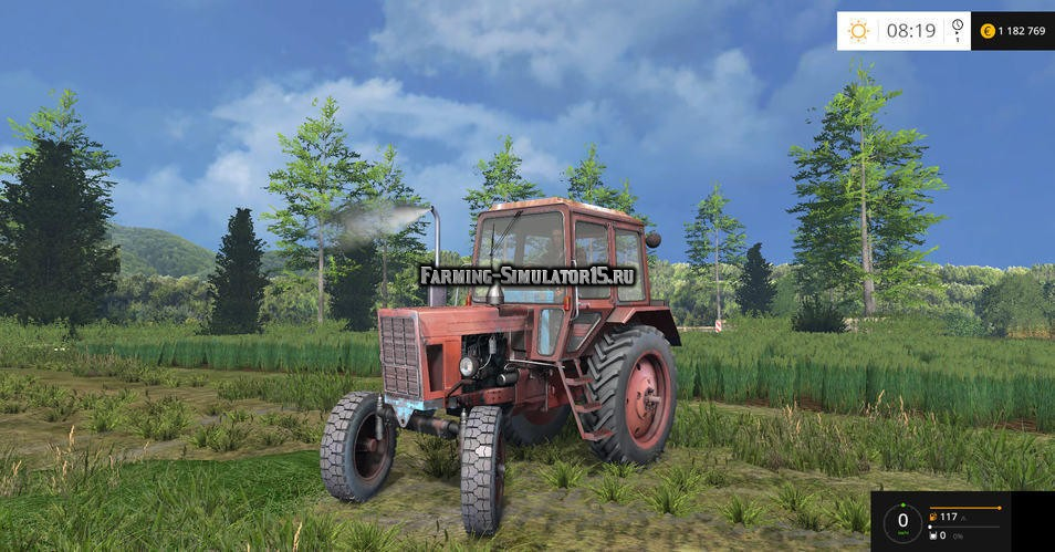 Мод трактор МТЗ Беларус MTZ-80 Red Tractor v 2.0 Фермер Симулятор 2015