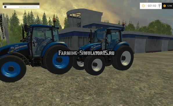 Мод трактор New Holland T 105 v 1.0 Farming Simulator 15