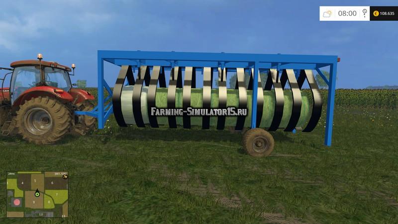 Мод прицеп для тюков BallenRobi 2PUNKT0 Auto V 1.1 Farming Simulator 15