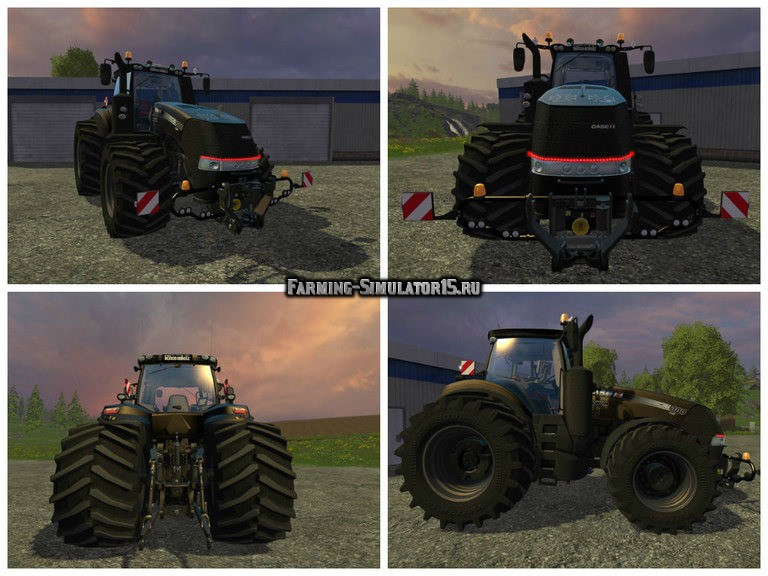 Мод трактор CASE Magnum 380 Black Beast V 1.0 Farming Simulator 2015