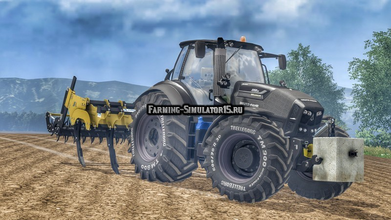 Мод трактор Deutz Fahr 7250 TTV Warrior v 3.0 Farming Simulator 15