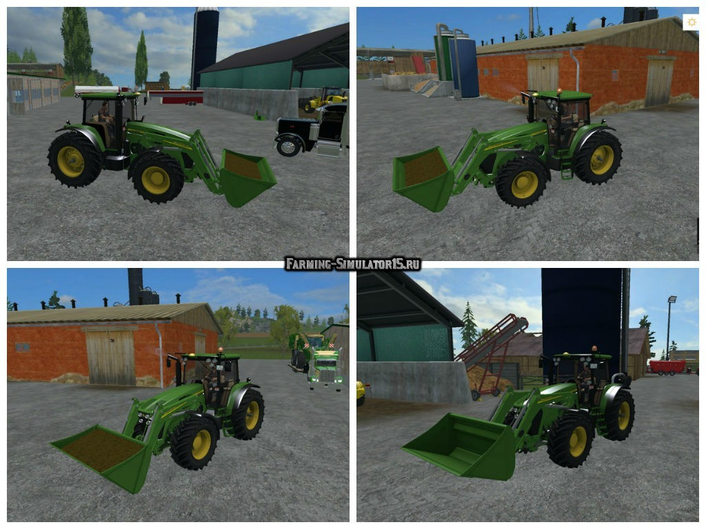 Мод трактор JOHN DEERE 7930 WITH FRONT LOADER V1 Farming Simulator 2015