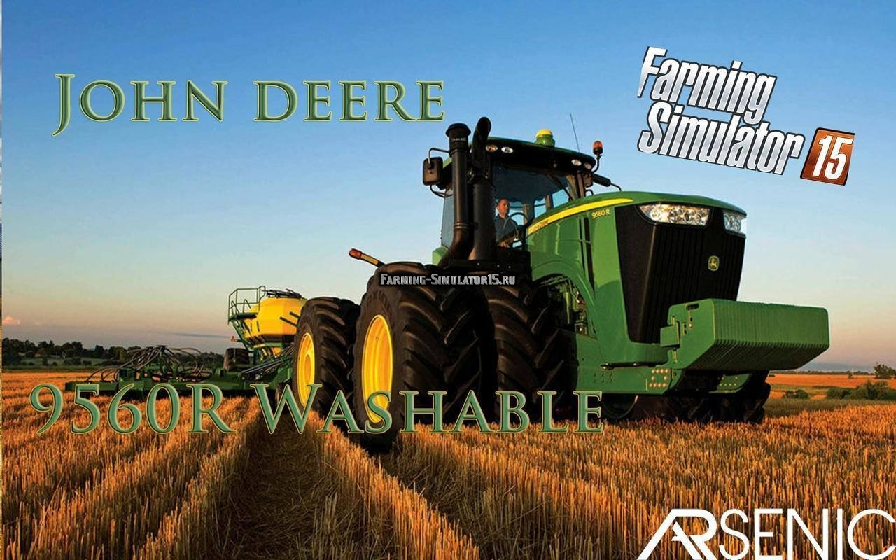Мод трактор JOHN DEERE 9560R V1 Farming Simulator 15