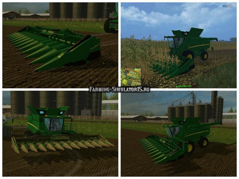 Мод жатка John Deere 980CF12 v 1.0 Farming Simulator 2015
