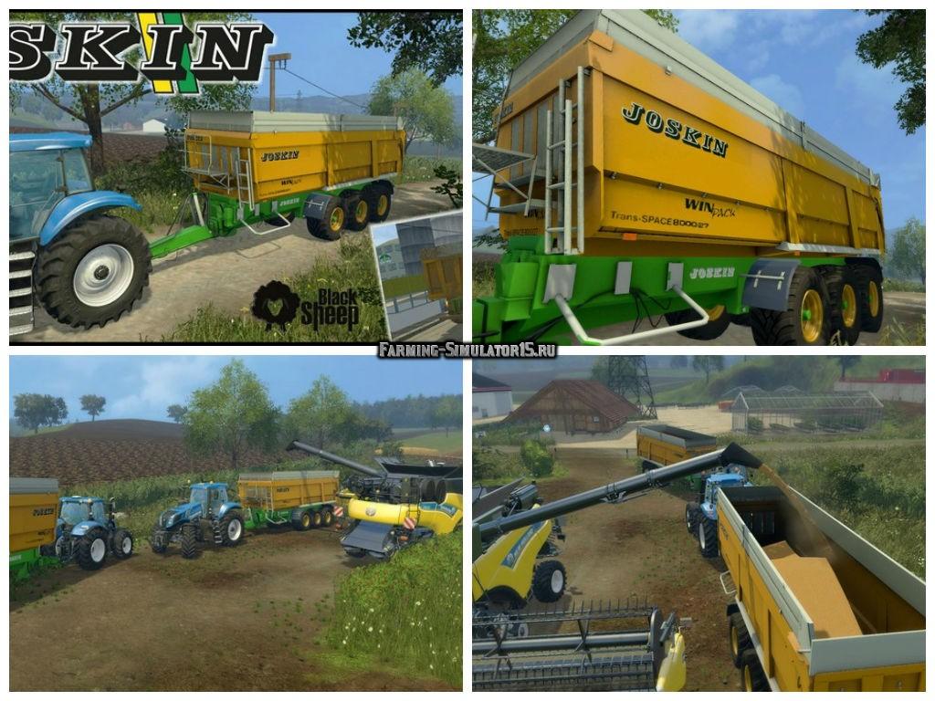Мод прицеп Joskin Trans Space 8000/23 Tridem v 4.0.0 Farming Simulator 15