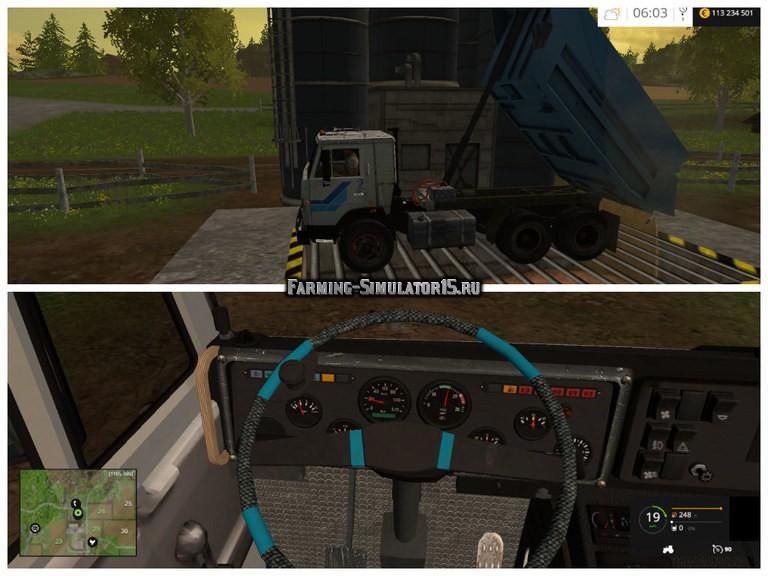 Мод грузовик КАМАЗ KamaZ 55111 v 1.0 Фарминг Симулятор 2015