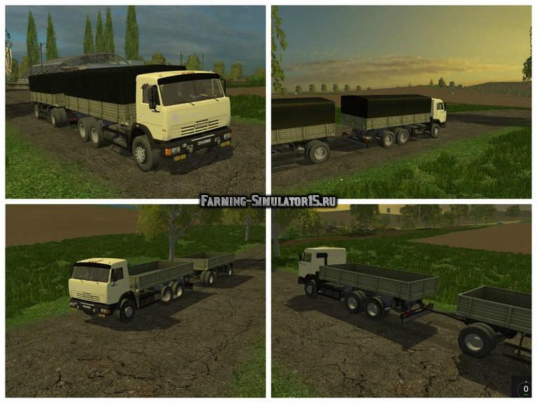 Мод грузовик КАМАЗ Колхозник KAMAZ v1.2 Фермер Симулятор 2015