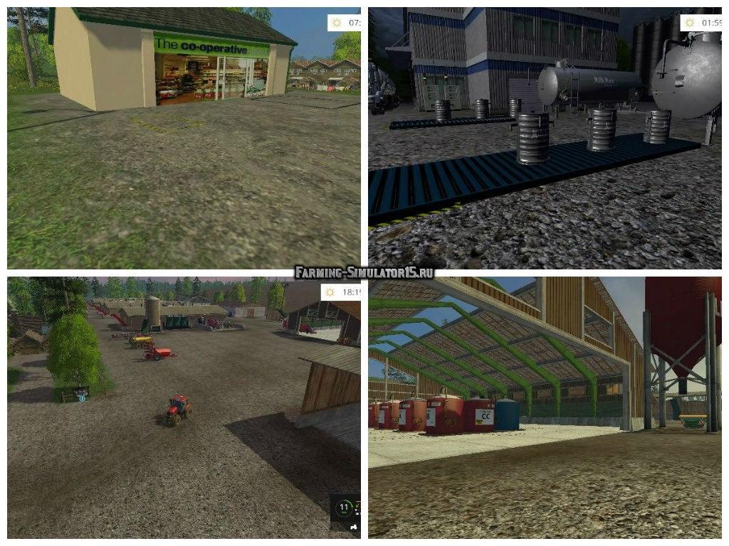 Мод карта LAKESIDE FARM HSS BY STEVIE MAP V1.1 HSS Farming Simulator 15