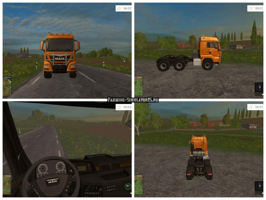 Мод грузовик MAN TGS 18.440 6x6 v 1.5 Farming Simulator 15