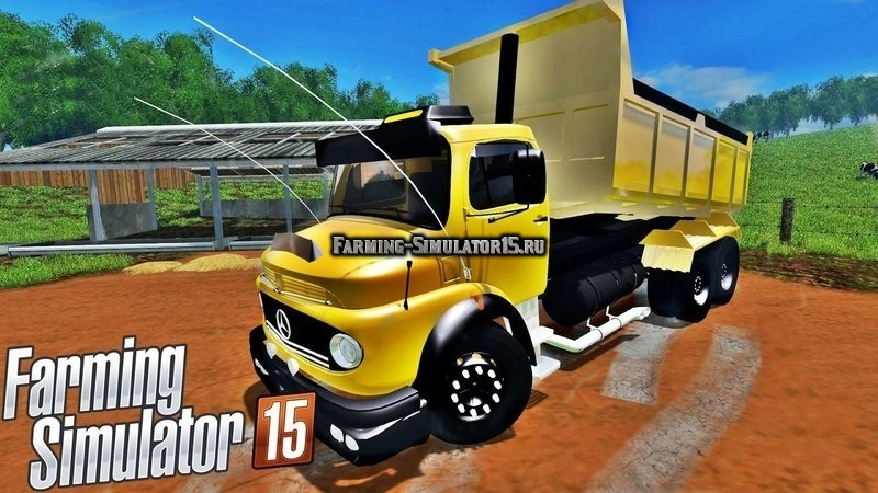 Мод грузовик MERCEDES 1513 BUCKET TRUCK V1.0 Farming Simulator 15