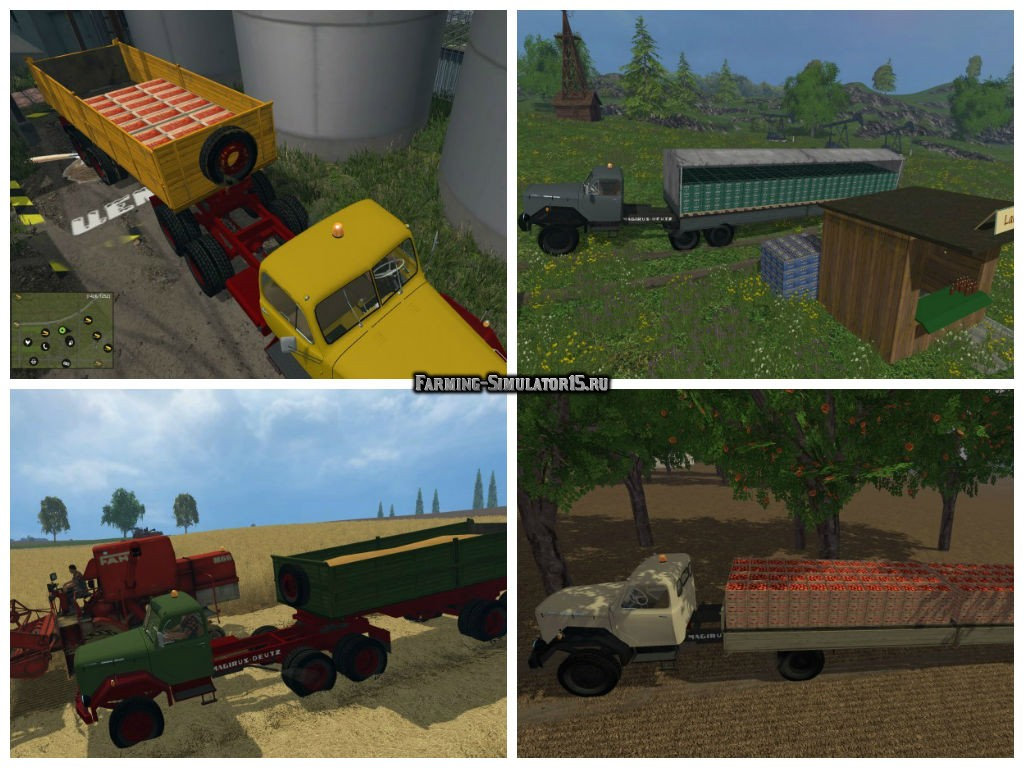 Мод грузовик Magirus 200D26 truck tractors v1.0 Farming Simulator 2015