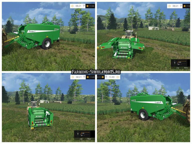 Мод упаковщик тюков McHale Fusion 2 Baler wrapper Farming Simulator 2015