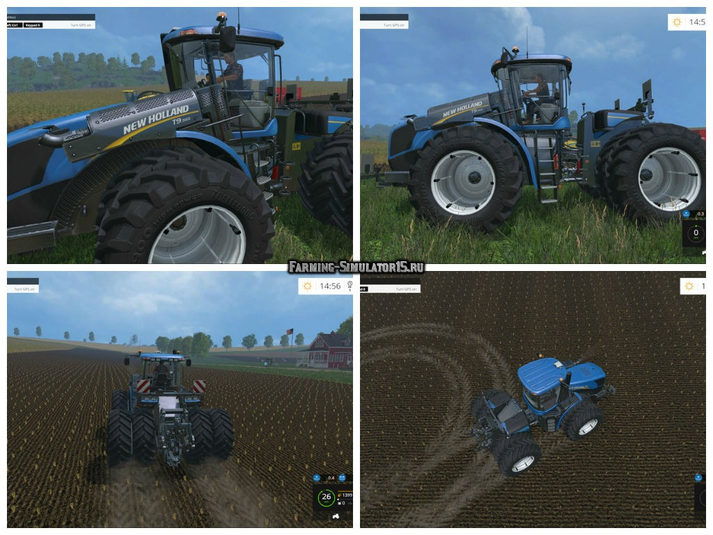 Мод трактор New Holland T9.560 Duel Wheel v 3.0 Farming Simulator 2015
