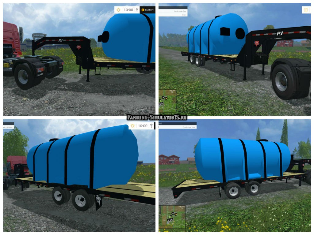 Мод прицеп PJ Fertilizer Trailer v 1.0 Farming Simulator 2015