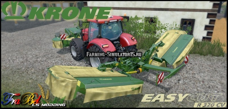 Мод газонокосилка Pack R320CV Krone Easy Cut V 1.0 Farming Simulator 15