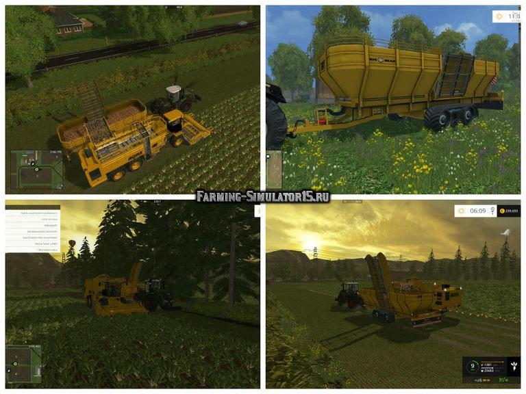 Мод прицеп Ropa Big Bear v 1.1 Farming Simulator 2015