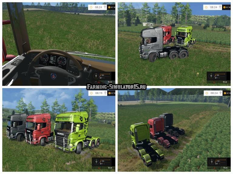 Мод грузовик Scania R730 Euro Farm v 0.95 BETA Farming Simulator 15