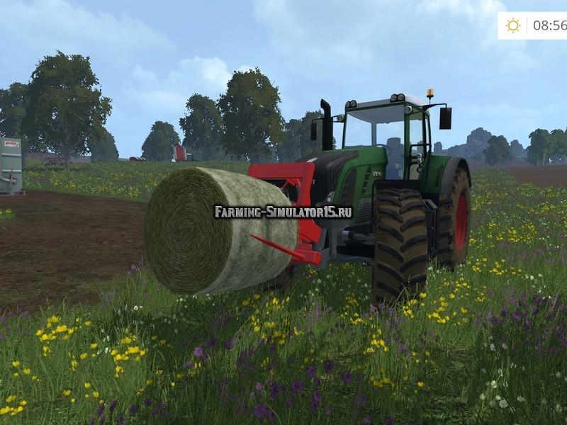 Мод навеска для тюков Threepoint Balefork V 1.0 Farming Simulator 15
