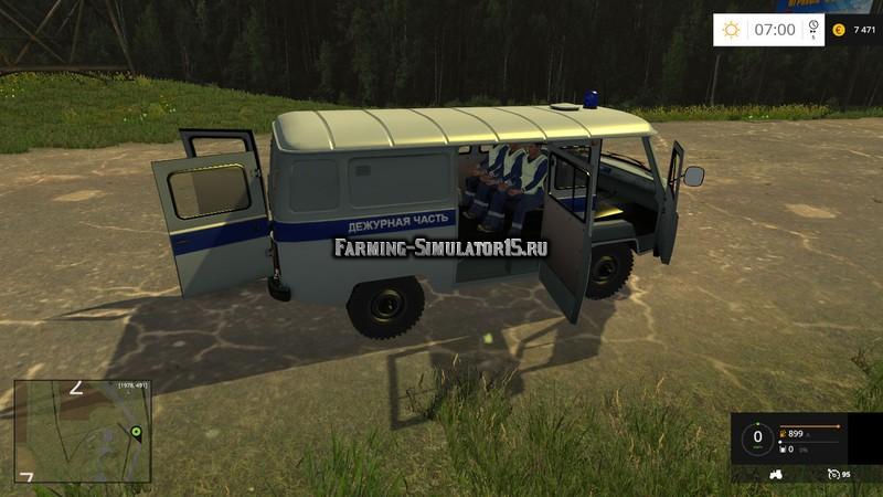 Мод автомобиль УАЗ Полиция UAZ 3909 Police V 1.0 Фарминг Симулятор 2015