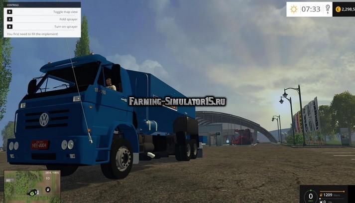 Мод грузовик Volkswagen 18-310 Fertilzante Truck v4.0 Farming Simulator 15