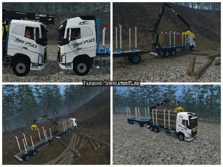 Мод грузовик Volvo Grumier v 2.0 Farming Simulator 2015
