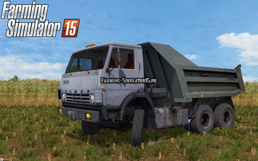 Мод грузовик КАМАЗ KamAZ 55111 v 4.0 Фермер Симулятор 2015