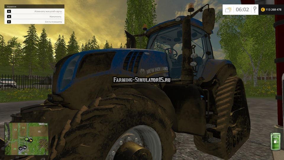 Мод скрипт ручная заправка топливом Manual Fill Fuel Farming Simulator 15