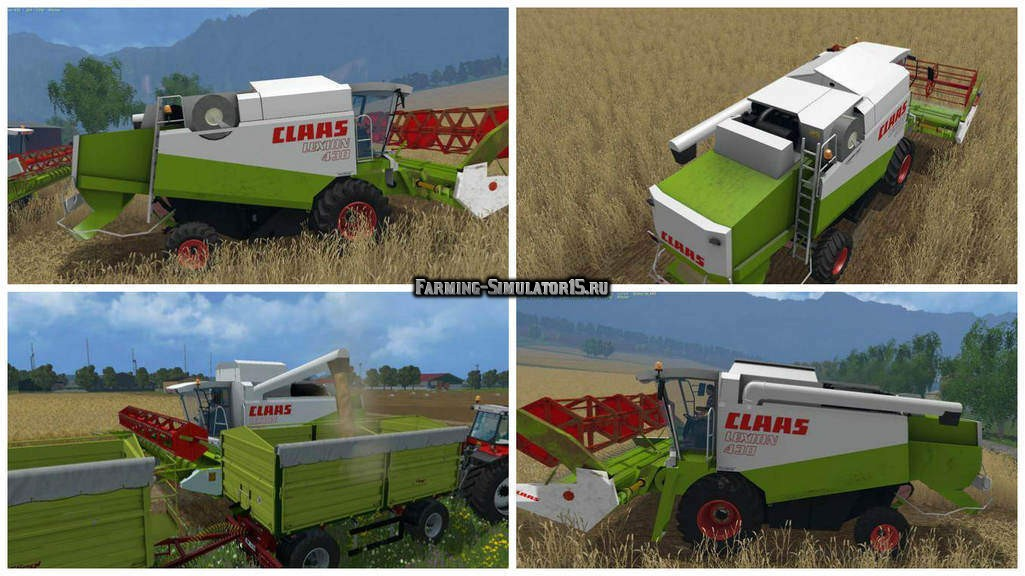 Мод комбайны Claas Lexion 400 Pack v 1.2.2 Farming Simulator 15