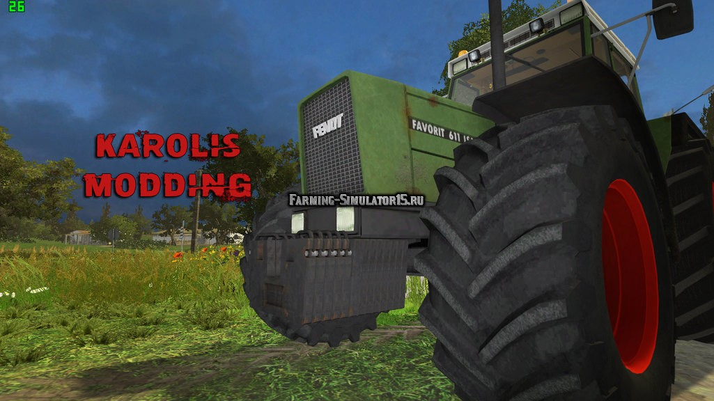 Мод трактор Fendt 611 LSA Turbomatic v 1.0 Farming Simulator 2015