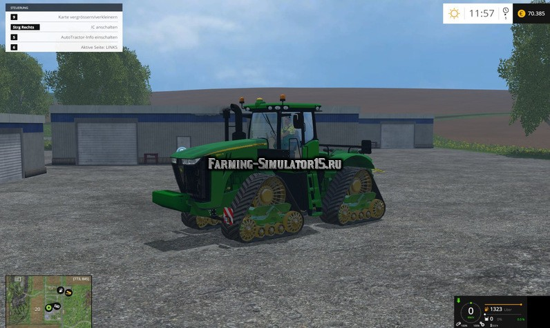Мод трактор John Deere 9560RX v 2.0 Final Farming Simulator 2015
