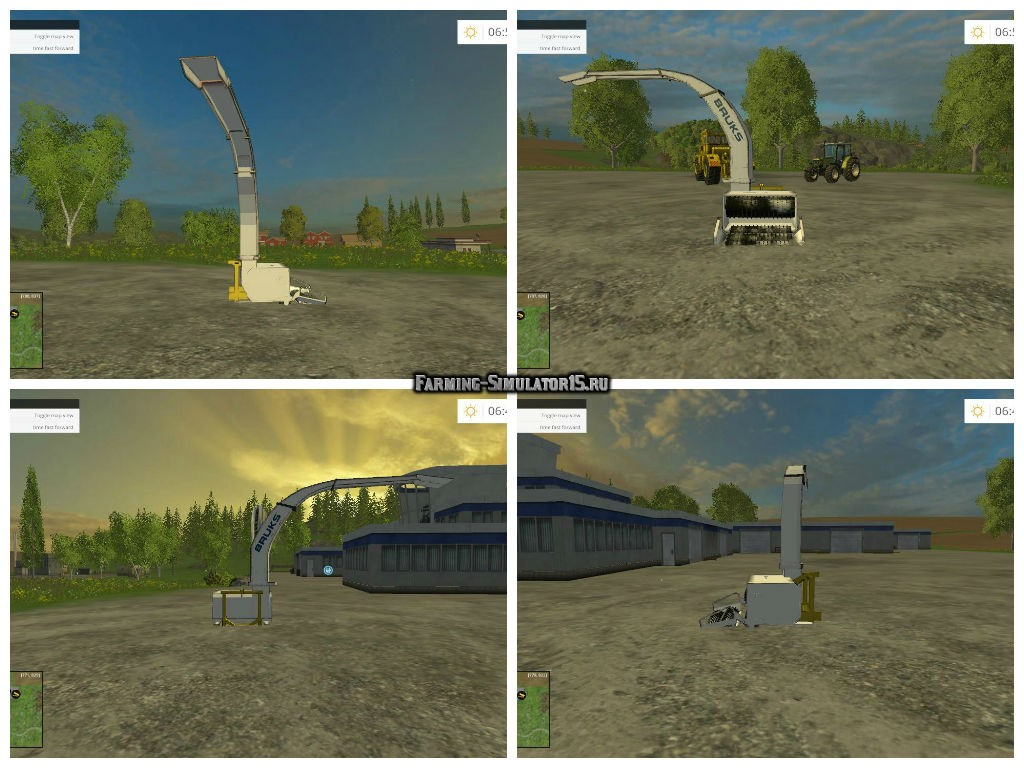 Мод щепогрыз BRUKS UN WOODCHIPPER v1.0 Farming Simulator 15