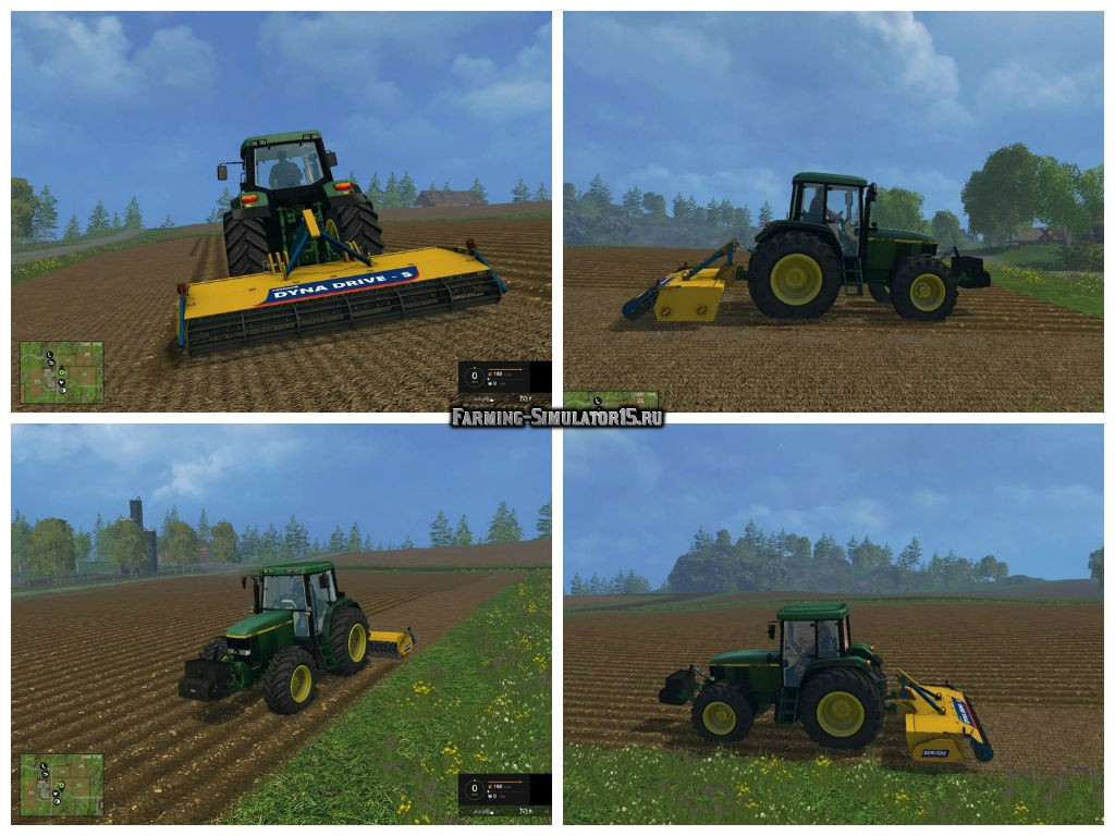 Мод культиватор Bomford Dyna Drive S v 2.0 Farming Simulator 2015