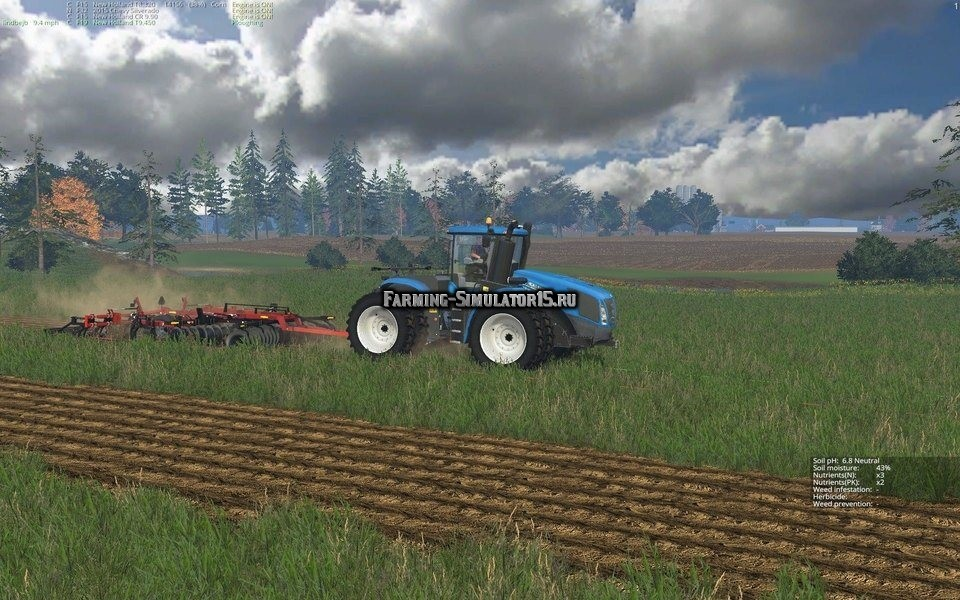 Мод плуг Case IH Ecolo-Tiger 870 v 1.0 Farming Simulator 2015