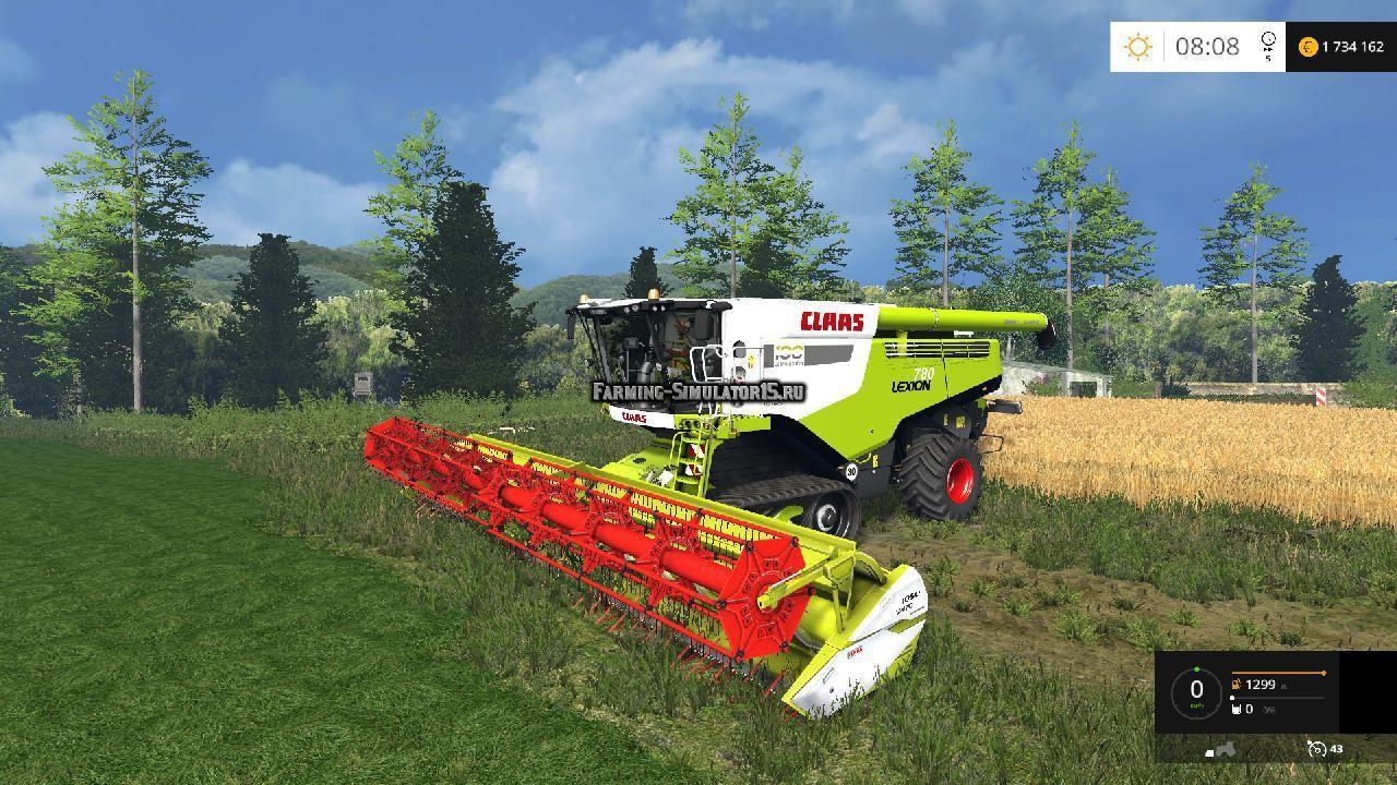 Мод комбайн Claas Lexion 780 TT IC Pack v 1.0 Farming Simulator 2015