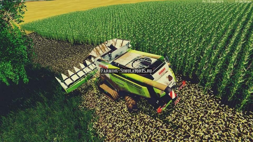 Мод комбайн Claas Lexion 780 v 1.2 Farming Simulator 15
