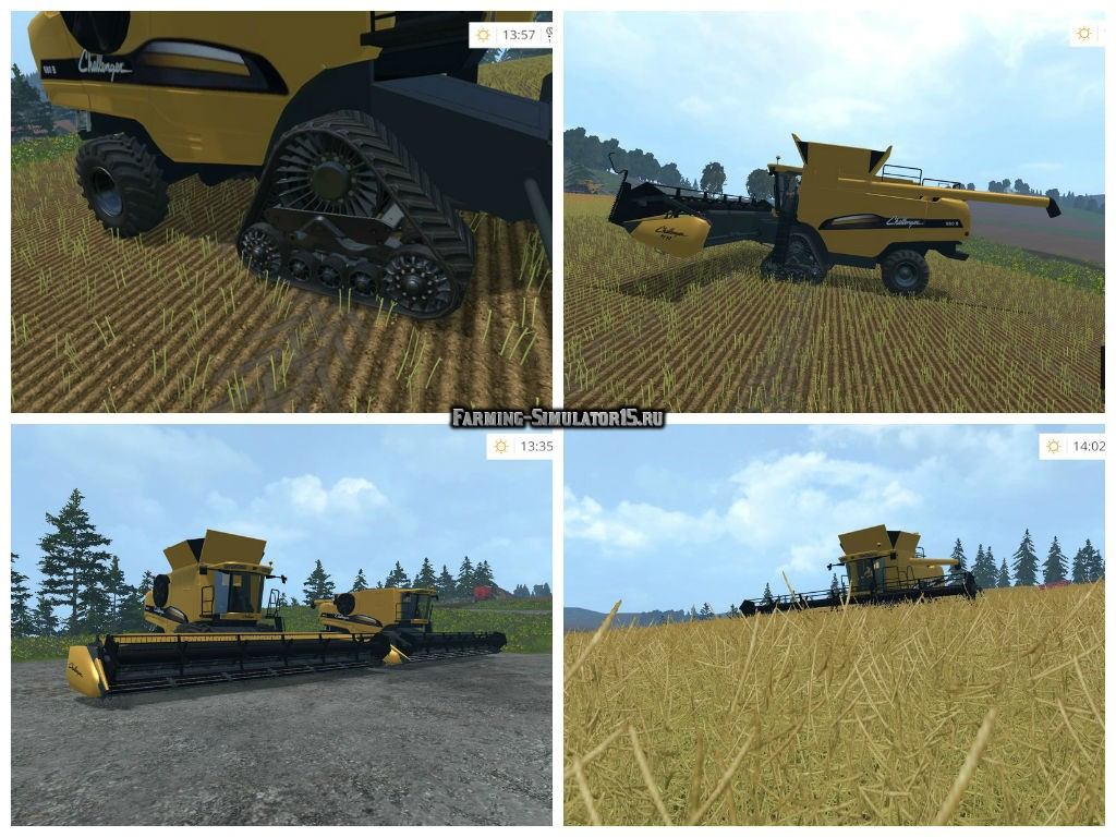 Мод комбайн CAT Challenger 680 B Pack v 1.1 Farming Simulator 2015