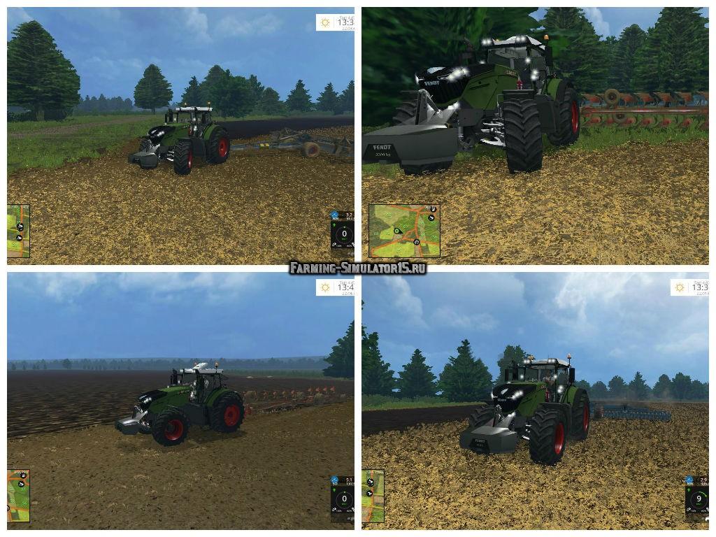 Мод трактор FENDT 1000 VARIO V1.0 Farming Simulator 2015