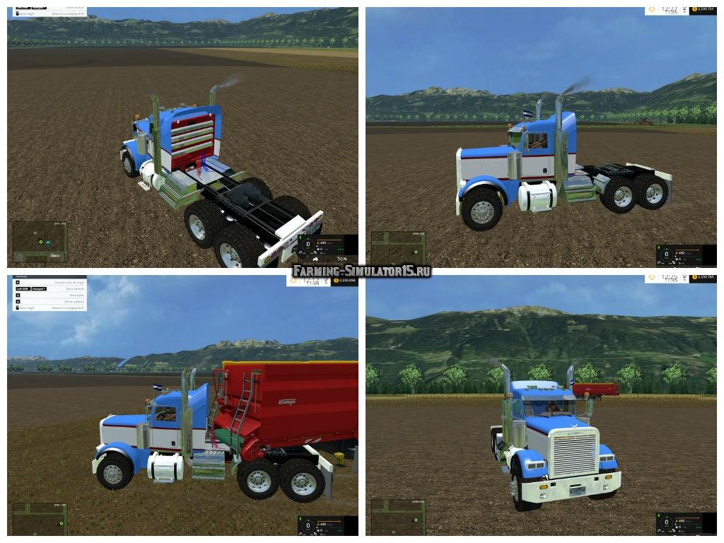 Мод тягач FREIGHTLINER FLD12064SD v 1.0 Farming Simulator 2015