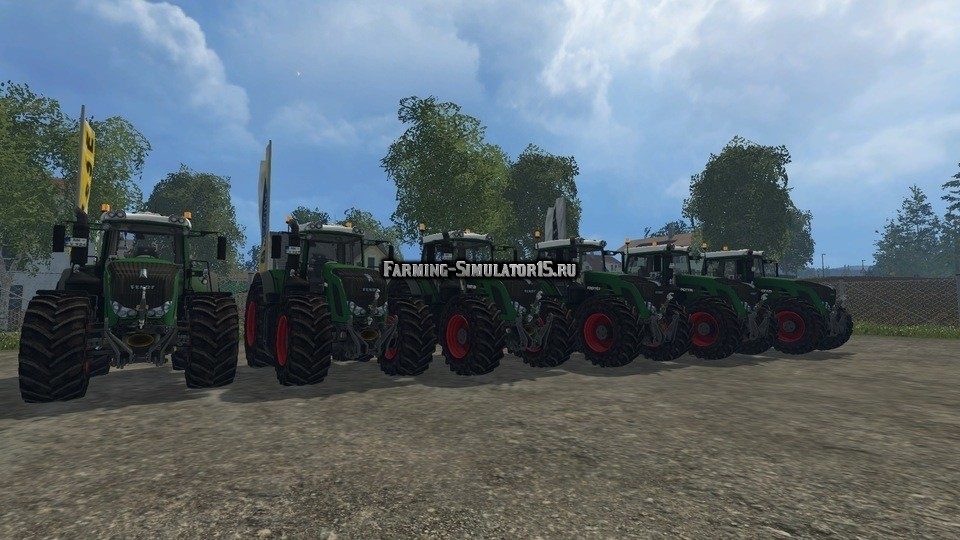 Мод ПАК тракторов Fendt 900 Tractor Pack Green V 3.1 Farming Simulator 2015