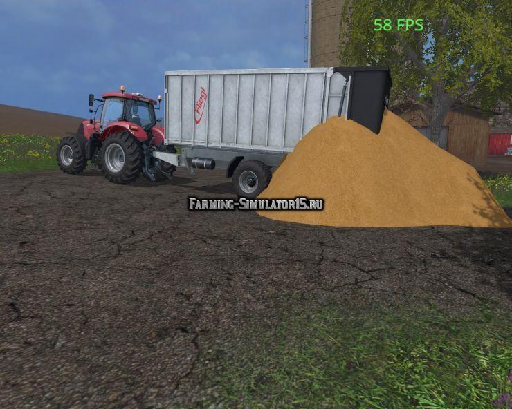 Мод альтернативная выгрузка HEAPTIPTRIGGER V1.0 Farming Simulator 2015